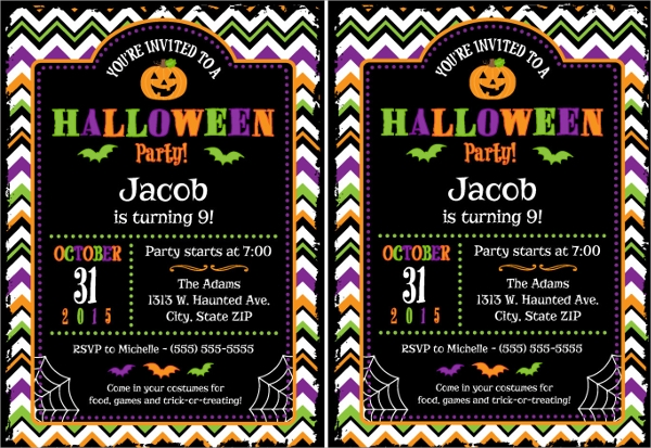 sample halloween invitation template 9 free documents in pdf word