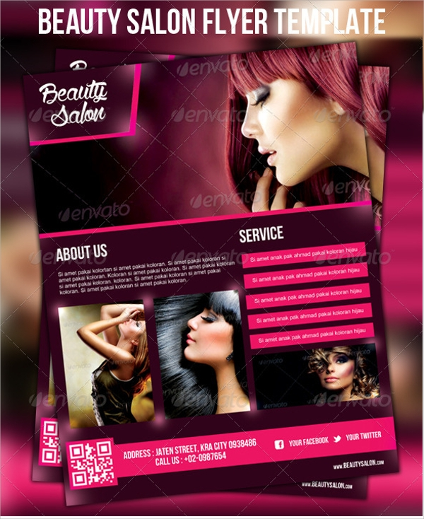 amazing beauty salon flyer