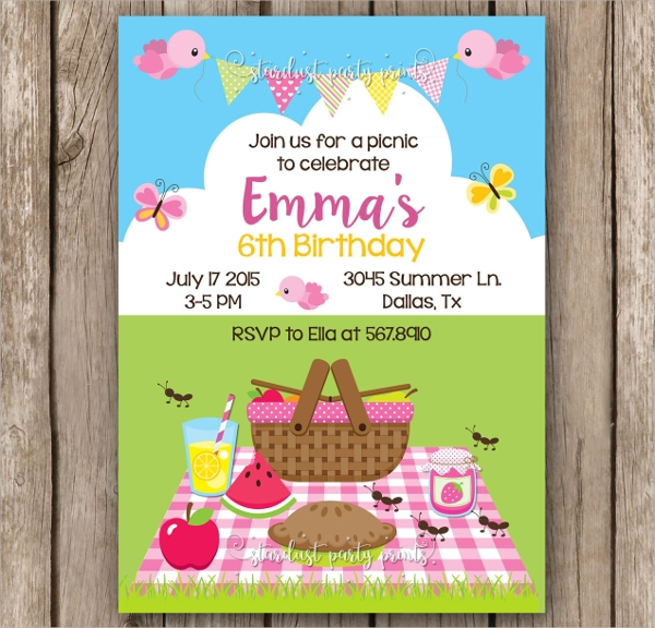 10 picnic invitation templates word psd ai