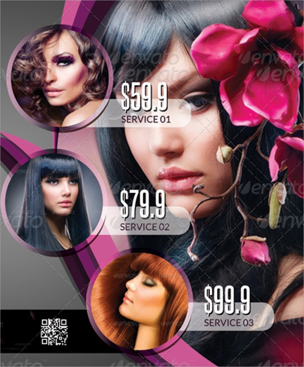 modern beauty salon flyer template