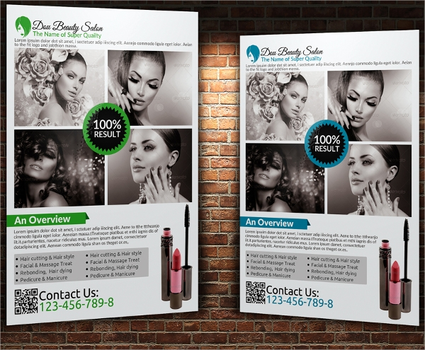 wondrous beauty salon flyer template