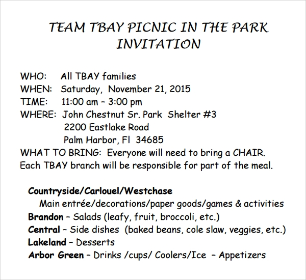 picnic invitation template pdf