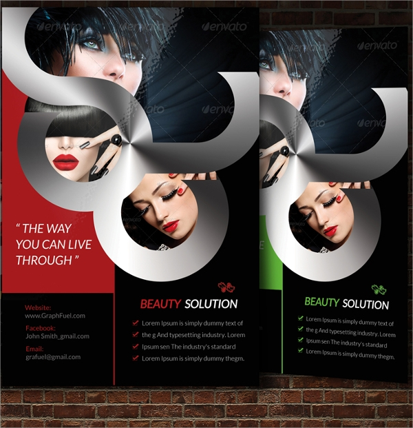 attractive beauty salon flyer template
