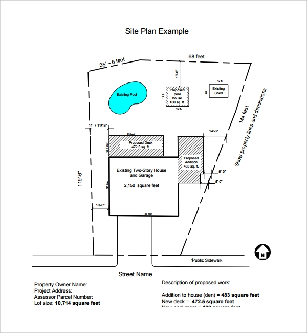 Sample Site Plan Template   Free Documents In Pdf Word