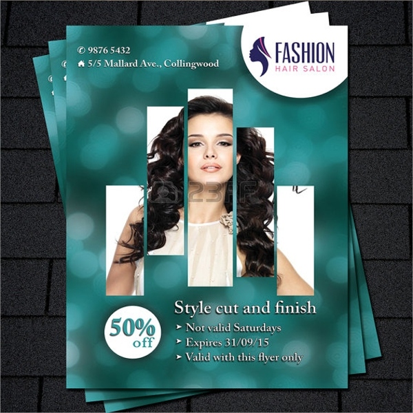 printable beauty salon flyer template