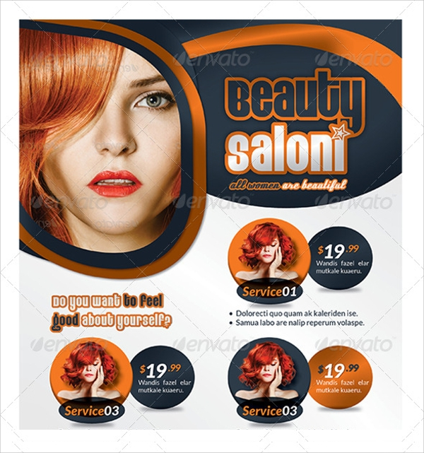 beauty salon business flyer template