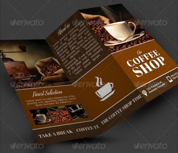 attractive coffee shop brochure template