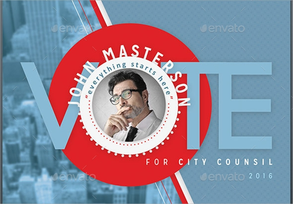 vote political flyer