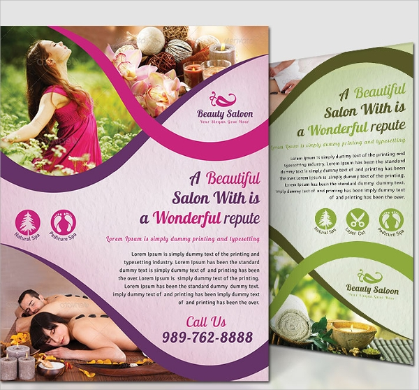 simple beauty salon flyer template