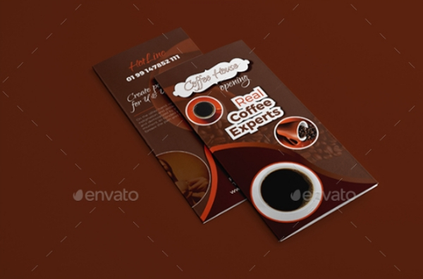 awesome coffee shop trifold brochure