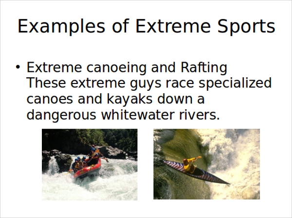 extreme sports powerpoint template