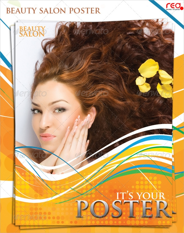 beauty salon poster flyer template