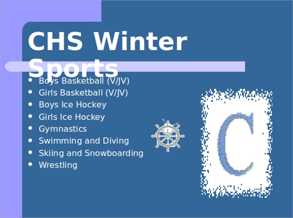 winter sports powerpoint template