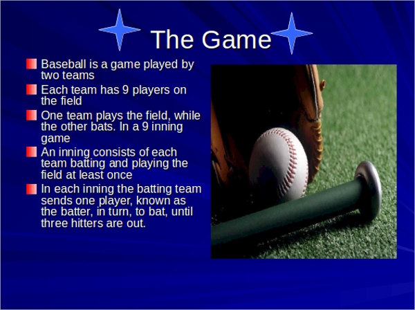 baseball powerpoint template