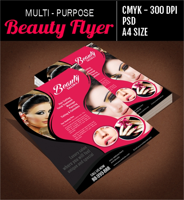 multi purpose beauty salon flyer template