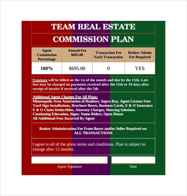 9 Commission Plan Templates Sample Templates