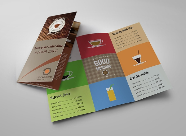 creative coffee shop brochure