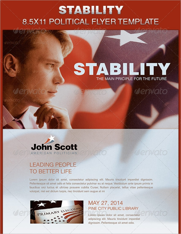 political flyer template best resumes
