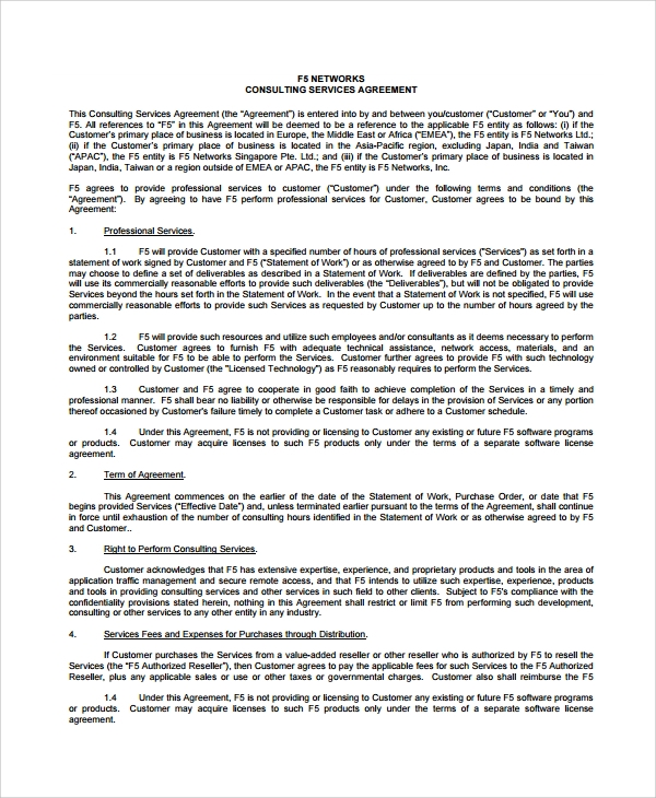 Network Consulting Services Agreement  Good Faith Agreement