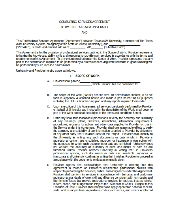 basic consulting services agreement