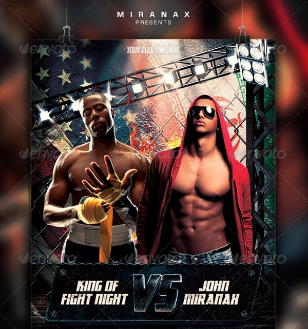 Ufc Flyer Template - 14+ Download In Psd