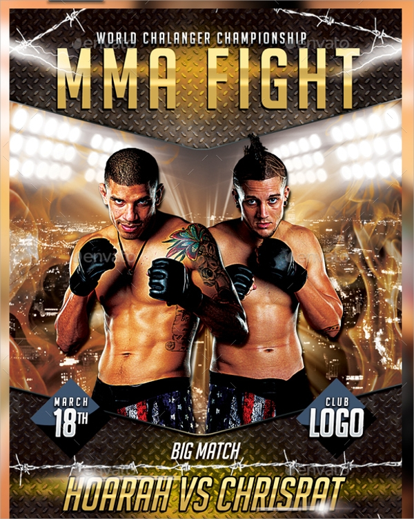 UFC Flyer Template 14 Download in PSD – Ufc Flyer Template