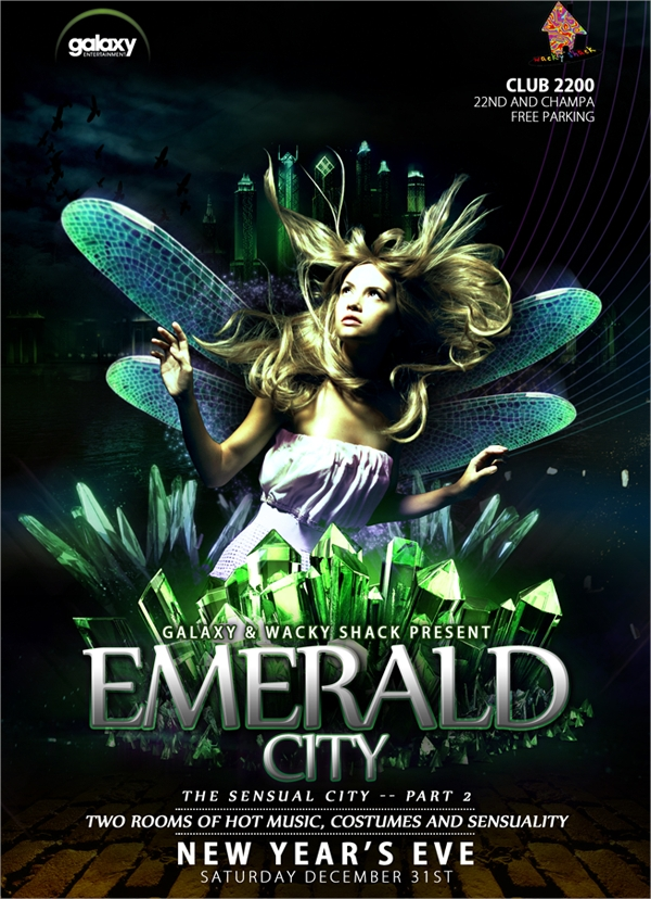 emerald city flyer template