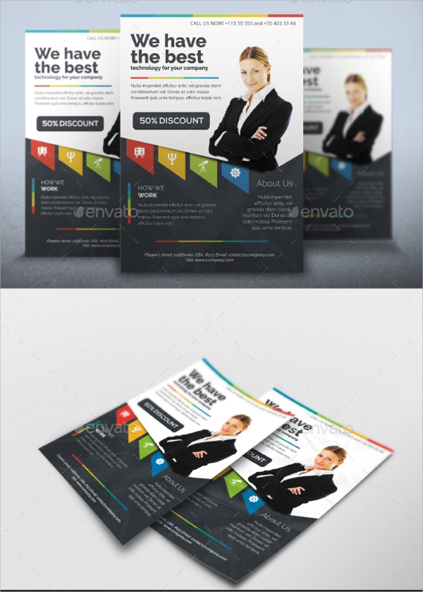 multipurpose emerald flyer template