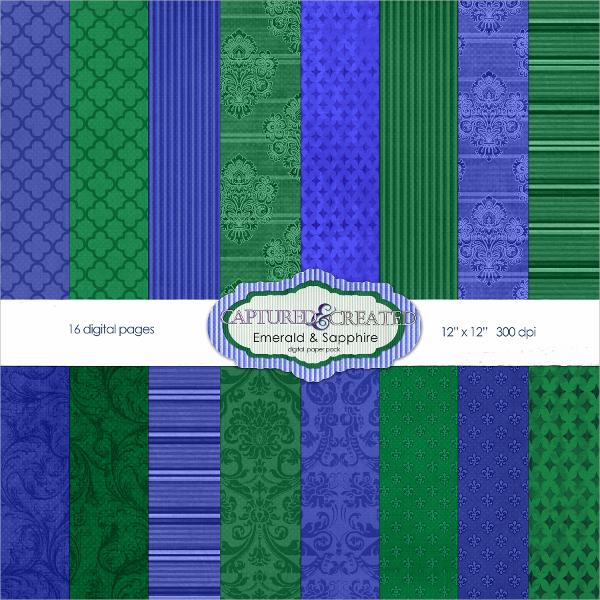 emerald sapphire flyer template