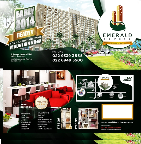emerald residence flyer template