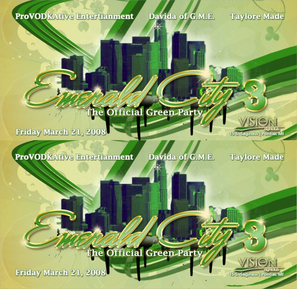 emerald city flyer templates