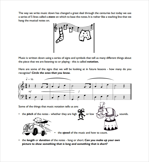 10 Musical Note Templates Sample Templates