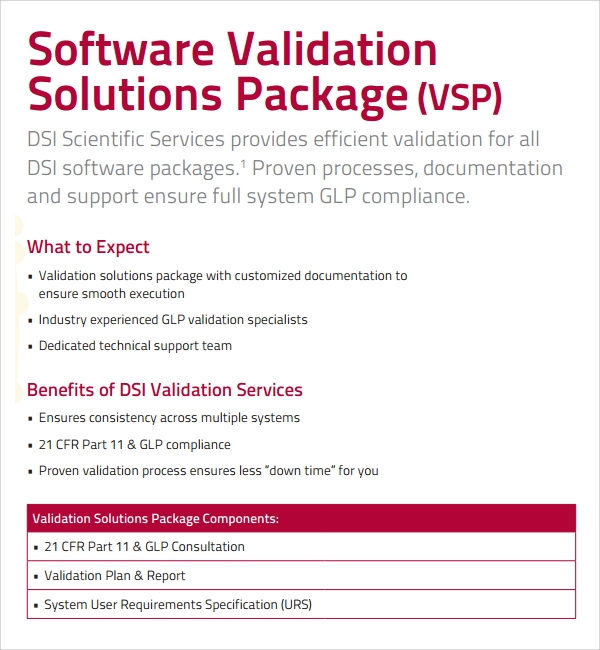 software validation plan template - 10 validation plan templates sample templates