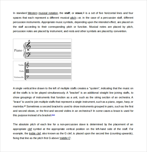 general music note template