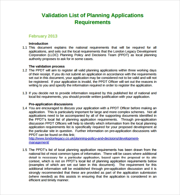 validation list of planning application%ef%bb%bf
