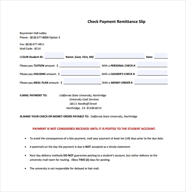Sample Remittance Template 9 Free Documents In Pdf Word