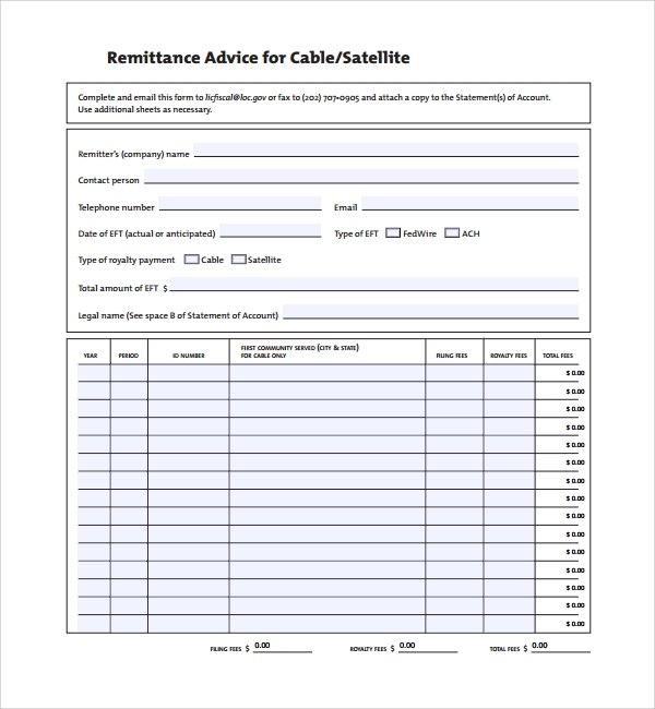 payment remittance template 28 images 12 remittance