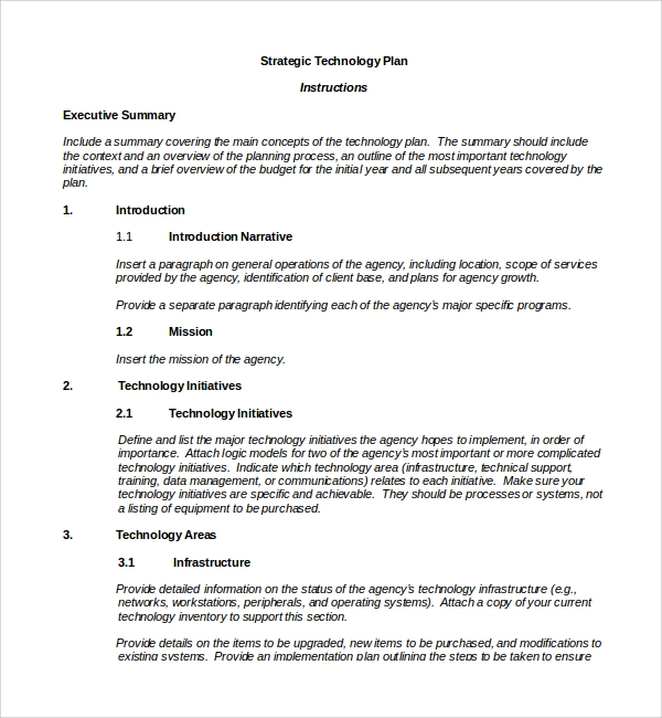 Sample Technology Plan Template - 9+ Free Documents in PDF, Word