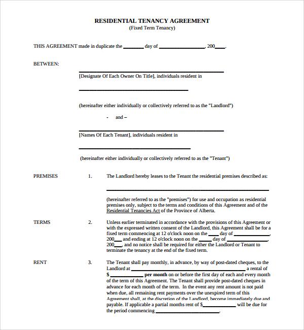 Lease Agreement Template Alberta - mandegar.info