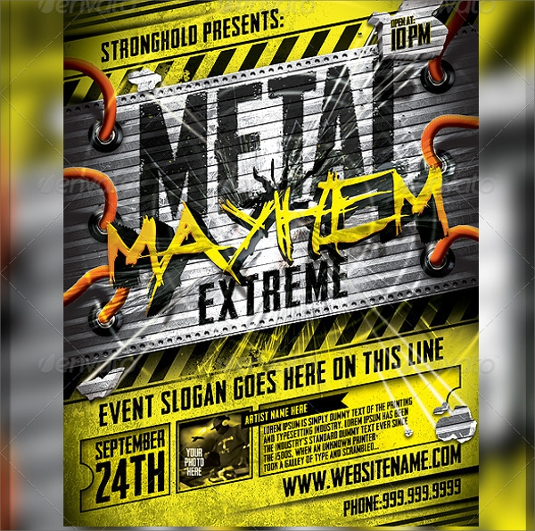 Mayhem Flyer Template - 9+ Download In Vector Eps, Psd