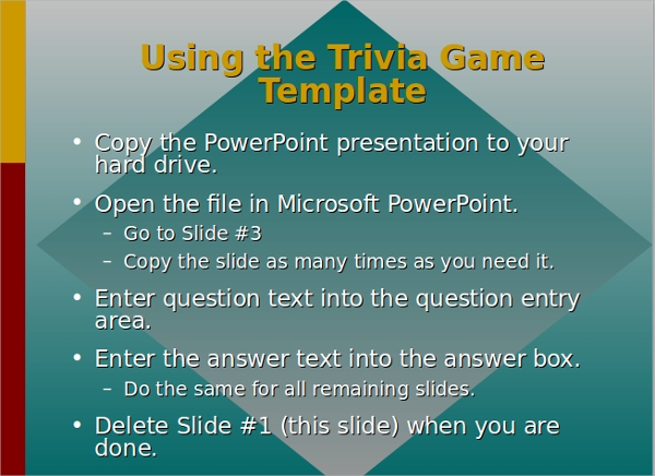Powerpoint Trivia Game Template