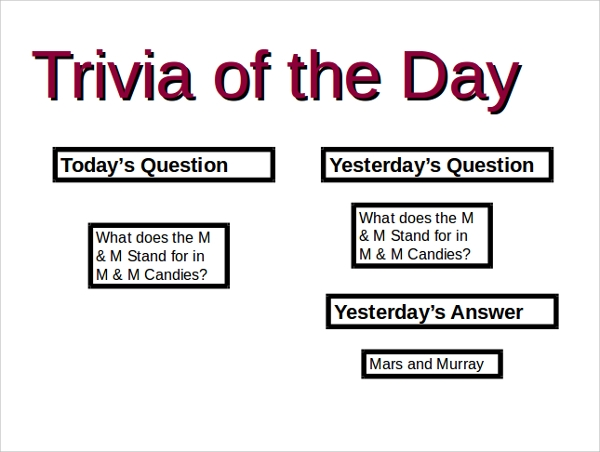 sample trivia powerpoint template