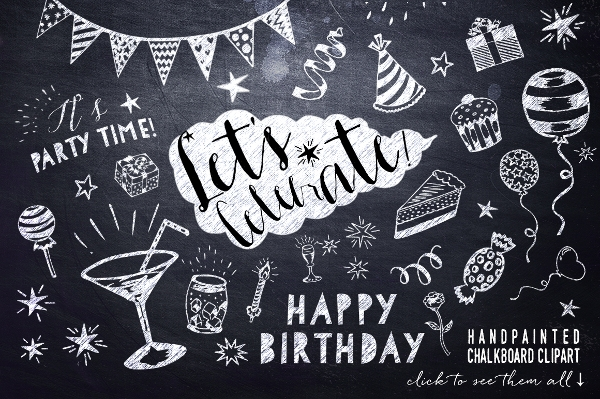 Chalk Board Invitation Template  Psd Eps Format Download