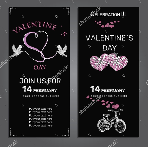 chalkboard valentines day invitation