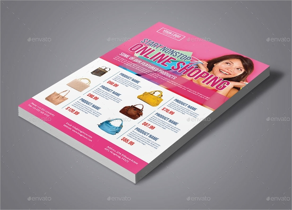 photoshop psd product flyer template