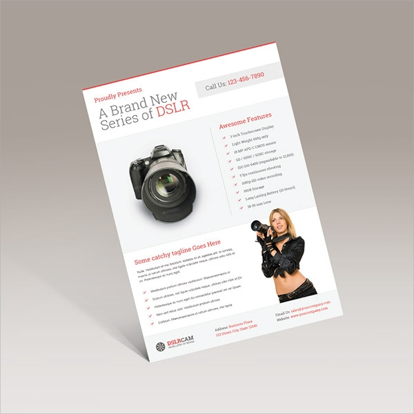 wonderful product flyer template