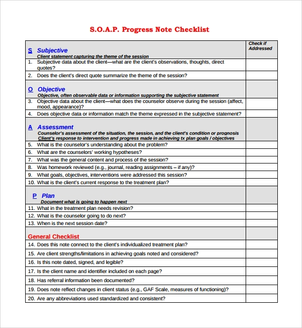 Sample Progress Note Template - 9+ Free Documents Download In Pdf