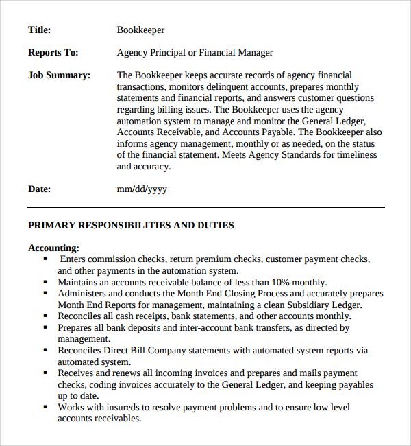 sle description template 9 free documents