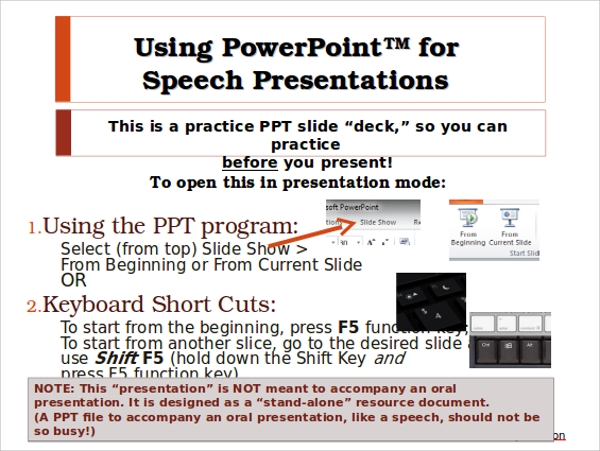 presentation speech example presentation ppt