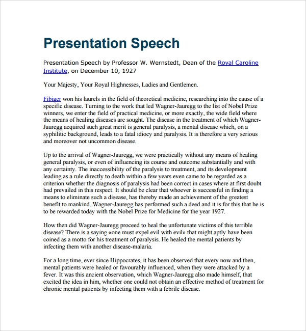 speech presentation Informative speeches provide interesting or useful information, and most professions require an informative presentation at some point during their careers formal preparation for an informative speech gives you a focused presentation, and allows you to feel more comfortable about public speaking.